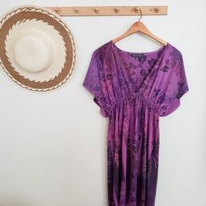 CITY TRIANGLES Purple Floral Flutter Sleeved Dress